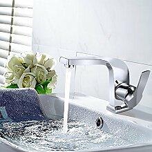 Homelody Chrom Elegant  Armatur mit seitlichem Hebel Waschtischarmatur Wasserhahn Bad Mischbatterie Badarmatur Waschbeckenarmatur f.Badzimmer