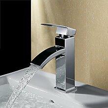 Homelody Chrom Mischbatterie Wasserfall Wasserhahn