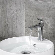 Homelody Chrom Waschbecken Wasserhahn Bad Waschtisch Armatur Mischbatterie Badarmatur Waschtischmischer Einhebelmischer