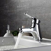 Homelody Chrom Wasserhahn Bad Armatur Waschbecken