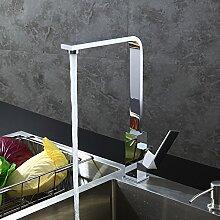 Homelody Chrom Wasserhahn Küchenarmatur Spültischarmatur Einhebelmischer Spüle Mischbatterie Küche Waschbecken
