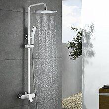 Homelody Duscharmatur Weiß Duschsystem Rainshower