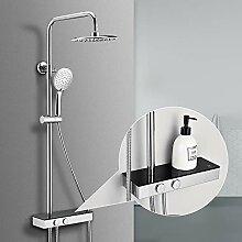 Homelody Duschsystem ohne Armatur mit Regal