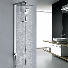 Homelody eckig Duschsystem ohne Armatur Duschset