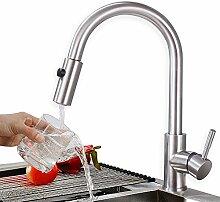 Homelody Einhebelmischer Wasserhahn Küche Armatur mit Ausziehbar Brause Spültischarmatur hoher Auslauf Küchenarmatur Mischbatterie Wasserkran