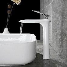 Homelody hoch weiss Waschbecken Armatur Bad Wasserhahn Waschtischmischer Waschtischarmatur Badarmatur Mischbatterie