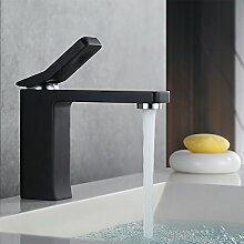 Homelody schwarz Waschtischarmatur Bad Armatur Wasserhahn Waschbecken Mischbatterie Waschbeckenarmatur Einhebelmischer