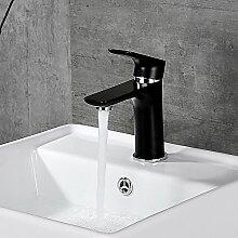 Homelody schwarz Wasserhahn Waschbecken Armatur Waschtischarmatur Mischbatterie Bad Waschtischmischer Badarmatur