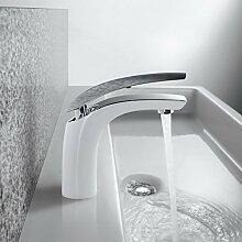 Homelody Wasserhahn Bad Waschtischarmatur Weiß