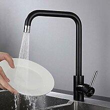 Homelody Wasserhahn küche schwarz 2 Funkionen