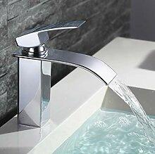 Homelody Wasserhahn Wasserfall Bad Mischbatterie