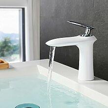 Homelody®Weiss Bad Wasserhahn Waschbeckenarmatur
