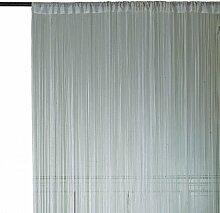 Homemaison HM69807483 Fadenvorhang, Weiß