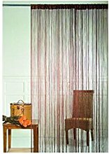Homemaison HM69807871 Fadenvorhang, Braun