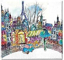 Homemania Eiffelturm-Art und Graffiti-Bild für