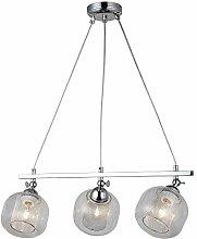 Homemania Pendelleuchte, Metall, Glas, Chrom