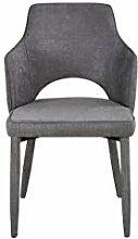 Homemania Stuhl Alhena hellgrau, aus Metall und