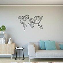 Homemania Wanddekoration Weltkarte 120x72 cm