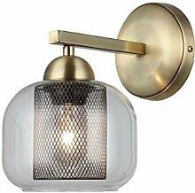 Homemania Wandleuchte, Metall, Glas, Gold