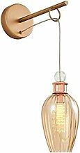 Homemania Wandleuchte, Metall, Glas, Mehrfarbig