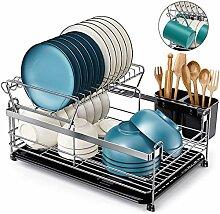 Homemaxs Abtropfgestell für Geschirr, 2 Etagen,