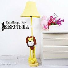 homemay PVC Wand Aufkleber Kinder Play Basketball in Englisch Eat Sleep Schlafzimmer Home Dekoration waterproofwallpaper25.4cm X 71,1cm, dunkelgrün, 25.4cm x 71.1cm
