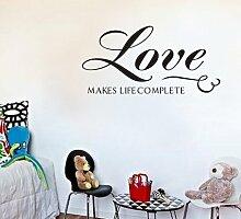 homemay PVC Wandtattoo Aufkleber Englisch Love macht Kinder Zimmer Main House Home Dekoration waterproofwallpaper27.9cm X 61cm, Deep Blue, 27.9cm x 61cm