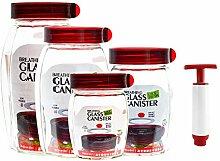 Homend 4 Stück Easy Fermenter Glas Kanister