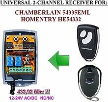 HOMENTRY Kompatibel Modul. 2-canales 433,92MHz