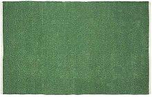 Homescapes Chenille Teppich unifarben dunkelgrün