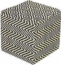 Homescapes Design Sitzwürfel Fußhocker Chevron