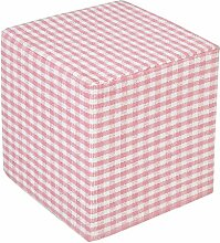 Homescapes Design Sitzwürfel Fußhocker Gingham