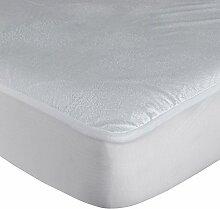 Homescapes Frottee Matratzenschoner 150 x 200 cm wasserabweisend Matratzenschutz ideal bei Inkontinenz und für Kleinkinder, auch für Allergiker geeigne