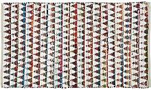 Homescapes handgewobener Chindi Teppich im Ethno Look, Buntes Diamantenmuster, 100% Baumwolle, 90 x 150cm