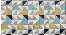 Homescapes hangewobener Teppichläufer mit buntem Druck, 100% Baumwolle, Kopenhagen, 66 x 200cm