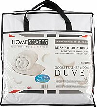 Homescapes KINDER DAUNENBETTDECKE (150 x 120cm), gefüllt mit GÄNSEFEDERN und DAUNEN (250gm²), 100% BAUMWOLLE, SCHUTZ gegen STAUBMILBEN, waschbar, antiallergen, ideal für SOMMER