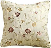 Homescapes Kissenhülle für Zierkissen 43 x 43 cm Black ergänzend zu Klassische Fertiggardinen Set Chintz Blumen Muster Jacquard Vorhang Floral