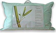 Homescapes Luxus Bio Bambus Kissen für Rückenschläfer - 50 x 75 cm - Allergiker Kissen Härtegrad Weich - Kopfkissen Rückenschläfer - Temperatur regulierend & atmungsaktiv