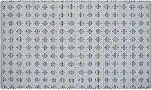 Homescapes Moderner Teppich Vorleger weiß schwarz Rautenmuster 120 x 180 Chindi Flickenteppich Fleckerlteppich