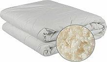 Homescapes natürliche australische Wolle Bettdecke 135x200cm für Herbst/Winter mit 100% Baumwollbezug atmungsaktiv und für Allergiker geeigne
