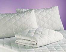 Homescapes nbsp;– Matratzenschutz für kleines Doppelbett–verbessert mit gesteppter 100% Baumwoll-Oberfläche–25cm tiefes Spannbettlaken/Matratzenschoner–kleine Doppelbettgröße 120 x 190 cm