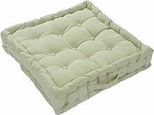 Homescapes Sesselkissen mit atmungsaktiv Luxus Weiche bis Touch Bezug 100% Baumwolle