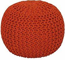 Homescapes Sitzhocker rund orange 40 x 35 cm,