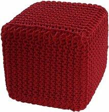 Homescapes Sitzhocker Sitzwürfel rot 35 x 35 x 35