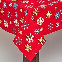 HOMESCAPES Tischdecke Weihnachten rot mit