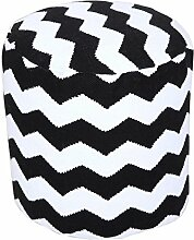 Homescapes Trendiger Design Pouf Rund Fußhocker