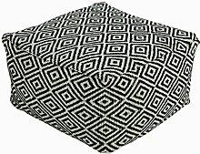 Homescapes Trendiger Design Sitzwürfel Fußhocker