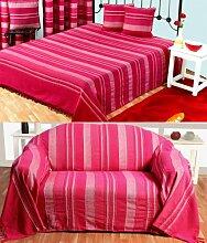 Homescapes waschbare Tagesdecke Sofaüberwurf XXL