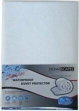 Homescapes wasserfeste BETTBEZUG (260 x 220cm), 100% POLYPROPYLEN, hypoallergen, SCHUTZ gegen STAUBMILBEN, atmungsaktiv