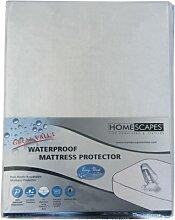Homescapes wasserfester SCHUTZBEZUG für MATRATZE (190 x 90cm), aus 100% POLYPROPYLEN, hypoallergen, SCHUTZ gegen STAUBMILBEN, atmungsaktiv